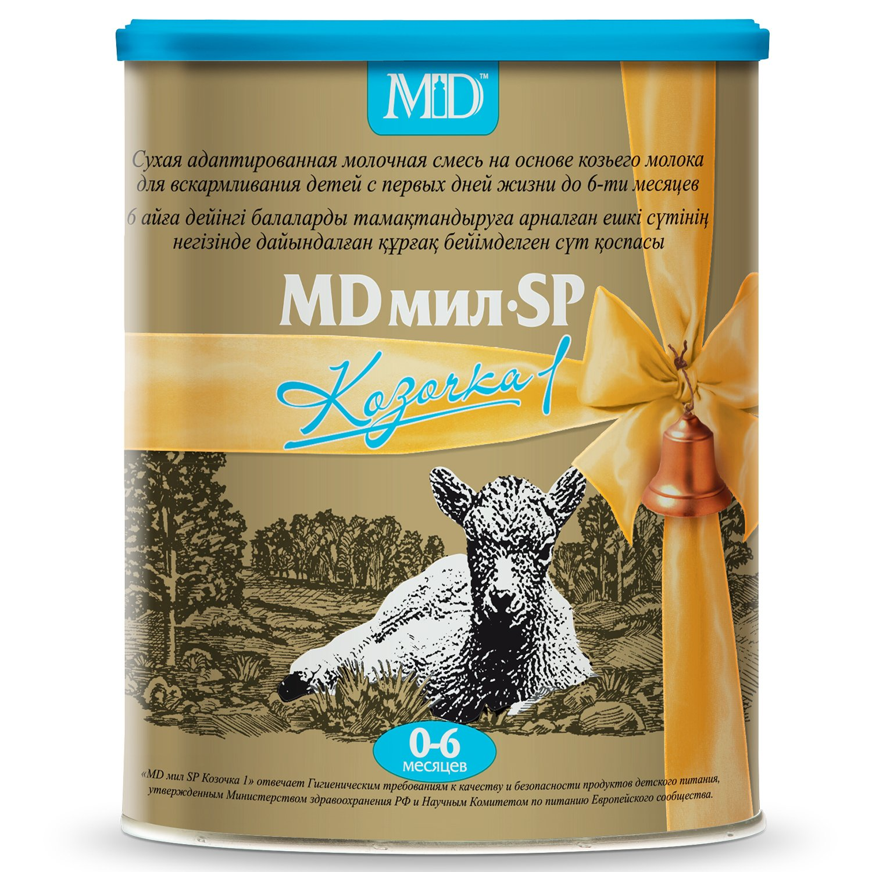 Фото препарата MD мил SP Козочка 1 сухая молочная смесь на основе козьего молока для детей от 0 до 6 месяцев 400г