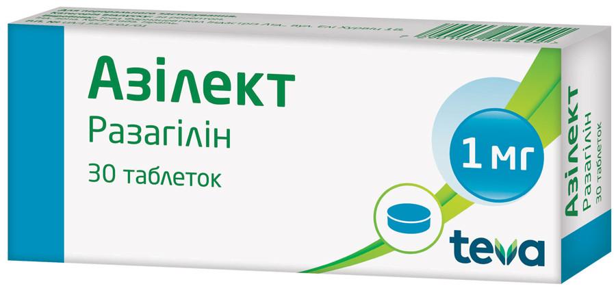 Фото препарата Азилект таблетки 1мг