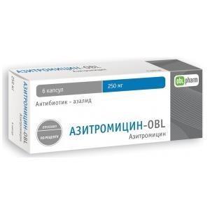 Фото препарата Азитромицин-OBL капсулы 250мг