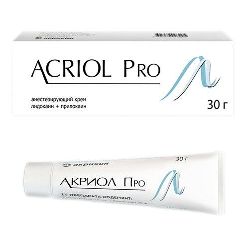 Фото препарата Акриол Про крем 2,5%+2,5% 30г