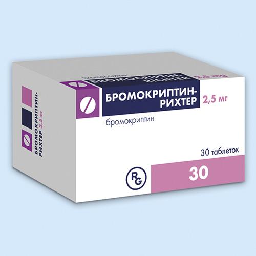 Фото препарата Бромокриптин-Рихтер таблетки 2,5мг