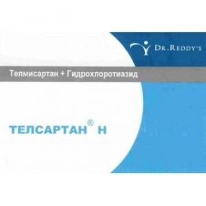 Фото препарата Телсартан Н таблетки 12.5мг+40мг блистер