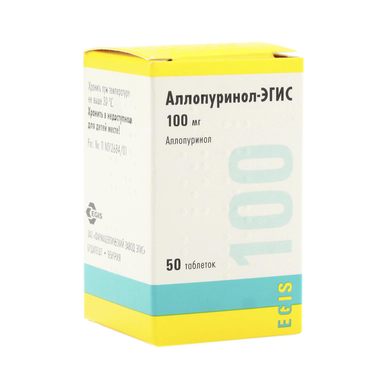 Фото препарата Аллопуринол-Эгис таблетки 100 мг флакон