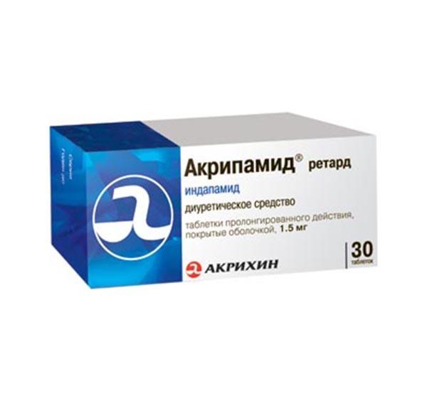 Фото препарата Акрипамид ретард таблетки покрытые оболочкой пролонгированного действия 1.5 мг блистер