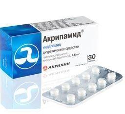 Фото препарата Акрипамид таблетки покрытые пленочной оболочкой 2.5 мг блистер