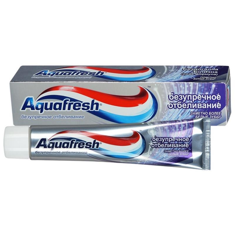 """Фото препарата Зубная паста """"Aquafresh"""" Безупречное отбеливание 100мл"""