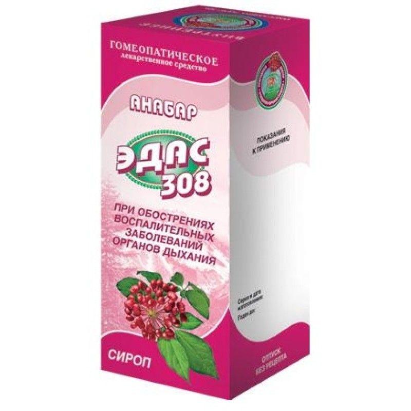 Фото препарата Анабар Эдас-308 сироп гомеопатический 100 мл