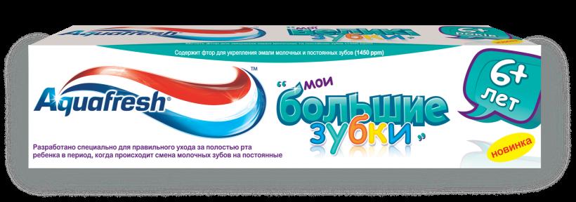"""Фото препарата Зубная паста """"Aquafresh"""" детская Мои большие зубки 50мл"""