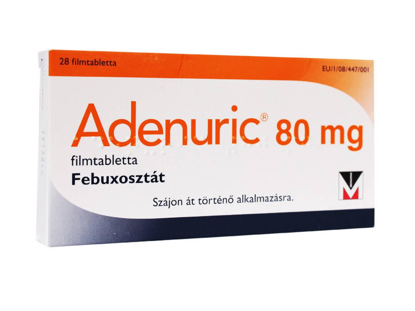 Фото препарата Аденурик таблетки покрытые пленочной оболочкой 80 мг блистер