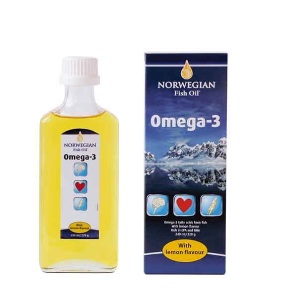 Фото препарата Norwegian Fish Oil Омега-3 со вкусом лимона жидкость 240мл