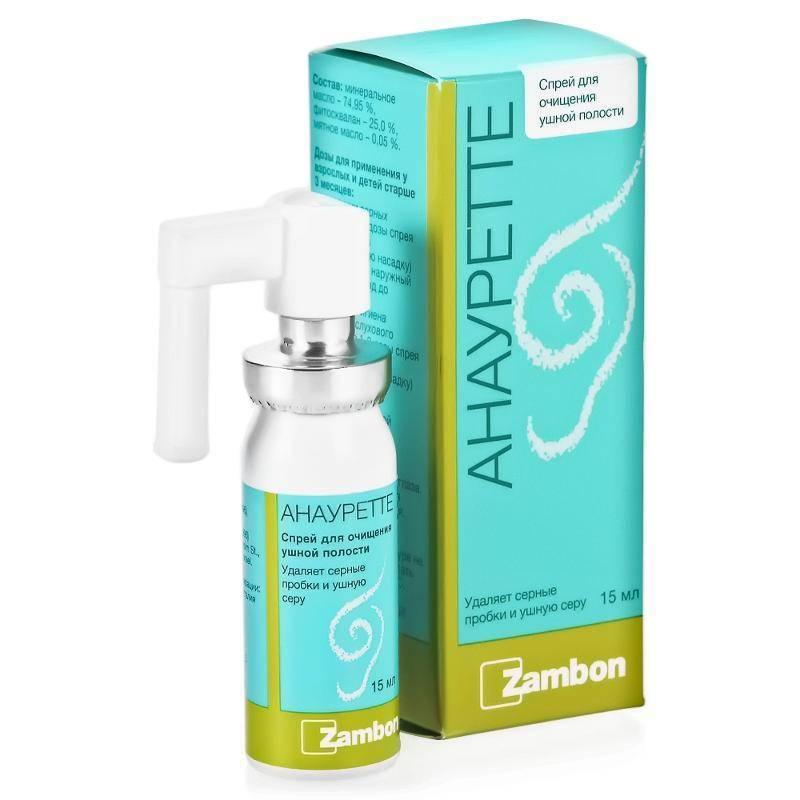 Фото препарата Анауретте спрей для очищения ушной полости 15мл
