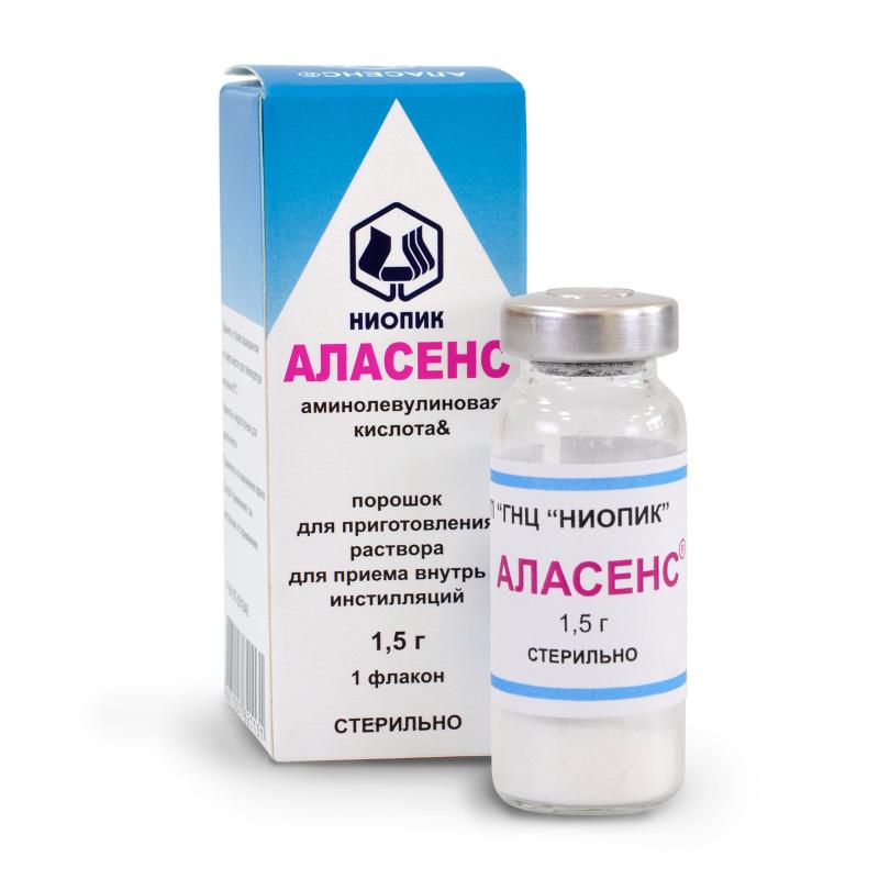 Фото препарата Аласенс порошок для приема внутрь 1.5 г бутылка для крови и кровезаменителей