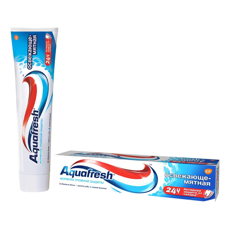 """Фото препарата Зубная паста """"Aquafresh"""" Освежающе-Мятная 100мл"""