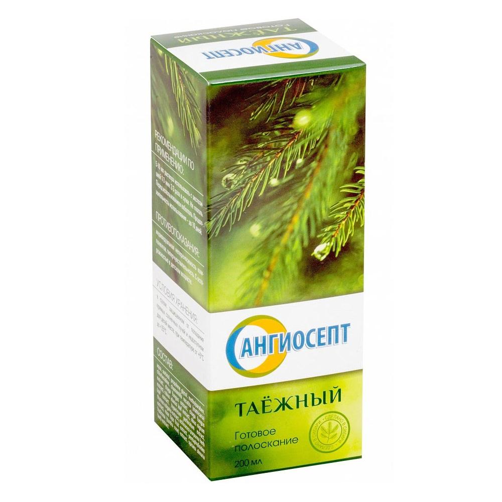 Фото препарата Ангиосепт Таежный готовое полоскание для полости рта 200мл