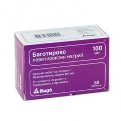 Фото препарата Баготирокс таблетки 100 мкг блистер
