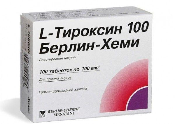 Фото препарата L-тироксин 100 Берлин Хеми таблетки 100мкг