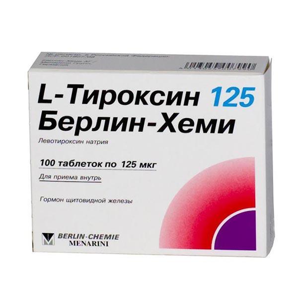 Фото препарата L-тироксин 125 Берлин Хеми таблетки 125 мкг блистер