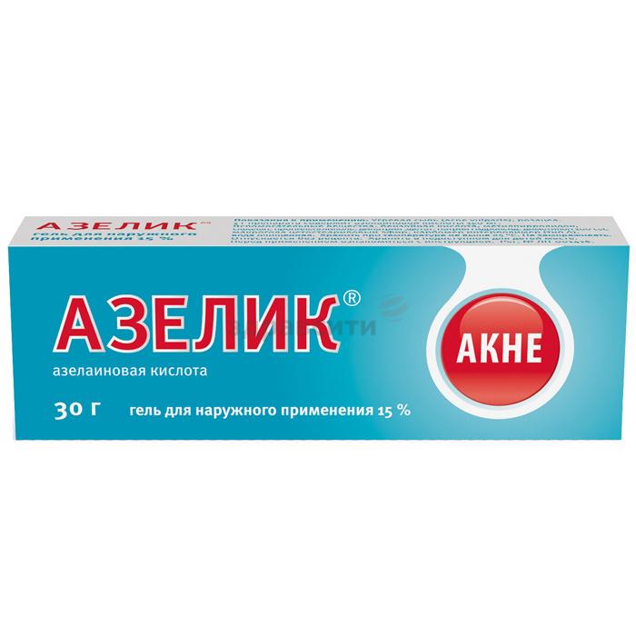 Фото препарата Азелик гель для наружного применения 15% туба алюминиевая 30 г