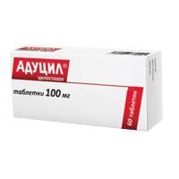 Фото препарата Адуцил таблетки 100 мг блистер