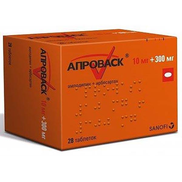 Фото препарата Апроваск таблетки покрытые пленочной оболочкой 10мг+300мг блистер