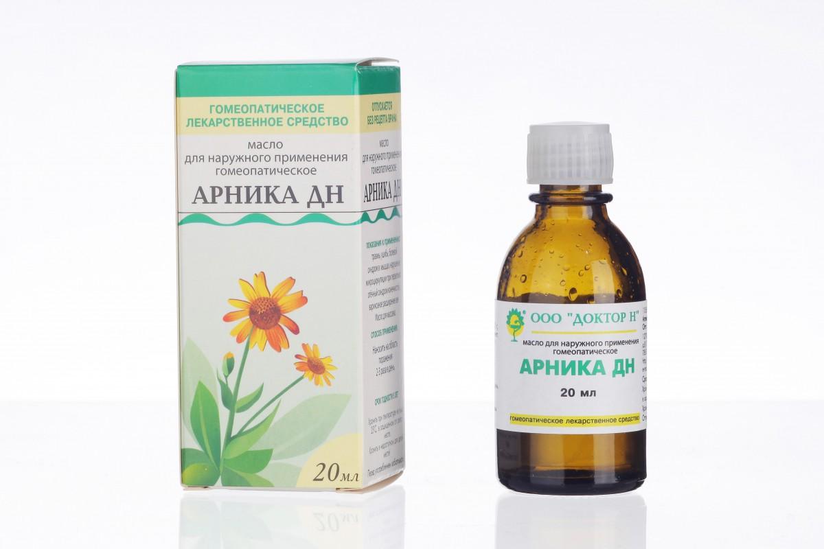 Фото препарата Арника ДН масло для наружного применения гомеопатическое 20мл