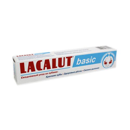 """Фото препарата Зубная паста """"Lacalut basic"""" 75мл"""