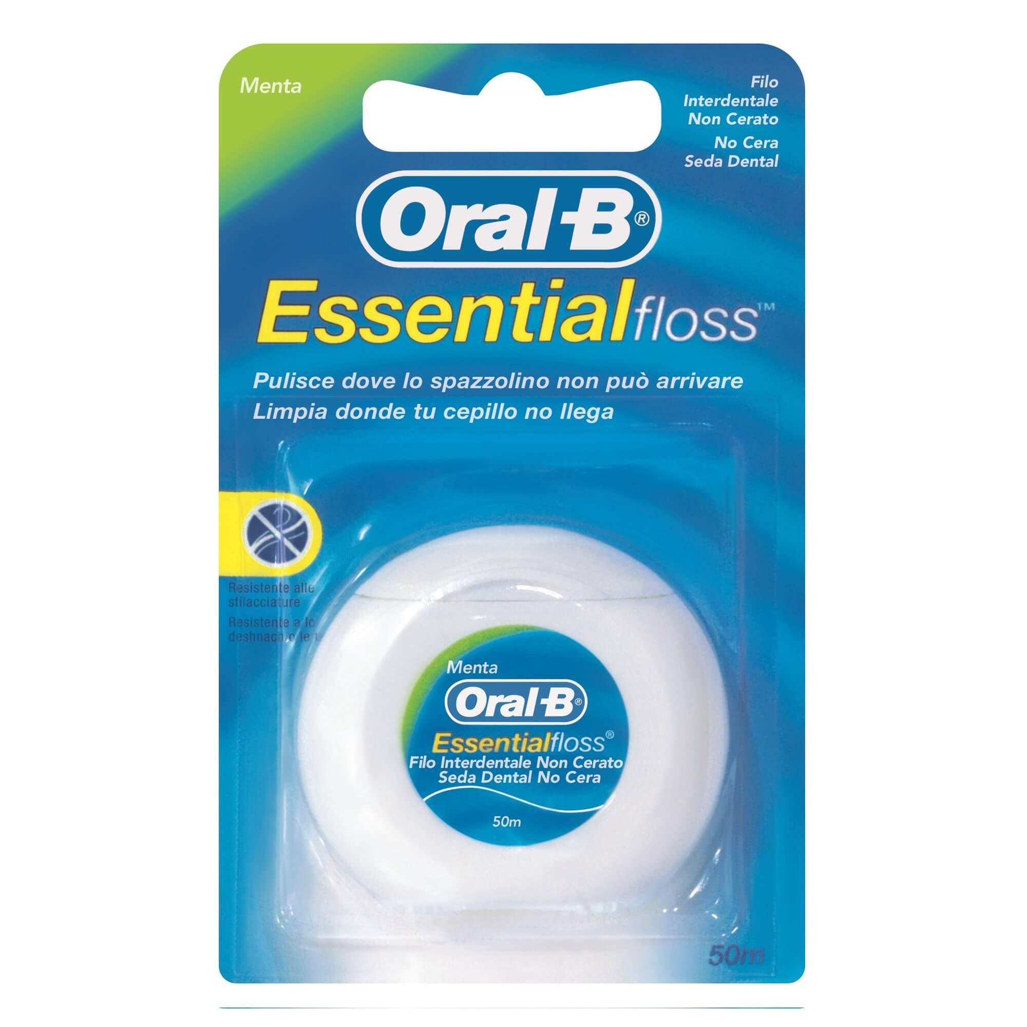 """Фото препарата Зубная нить """"Oral-B Essential"""" невощеная 50м"""
