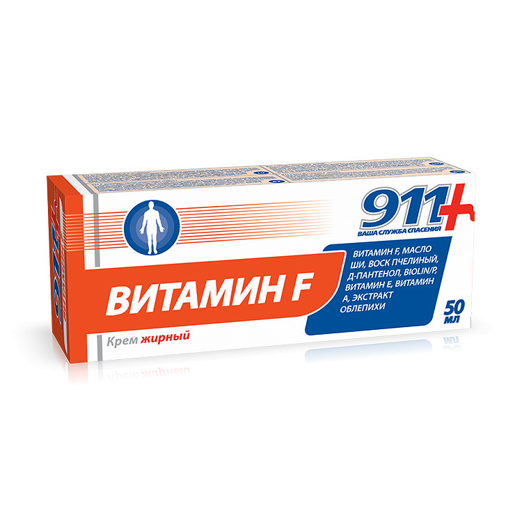 """Фото препарата Крем """"911 Ваша служба спасения"""" Витамин F жирный 50мл"""