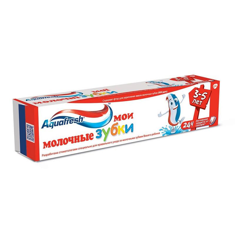 "Фото препарата Зубная паста ""Aquafresh"" детская Мои молочные зубки 50мл"