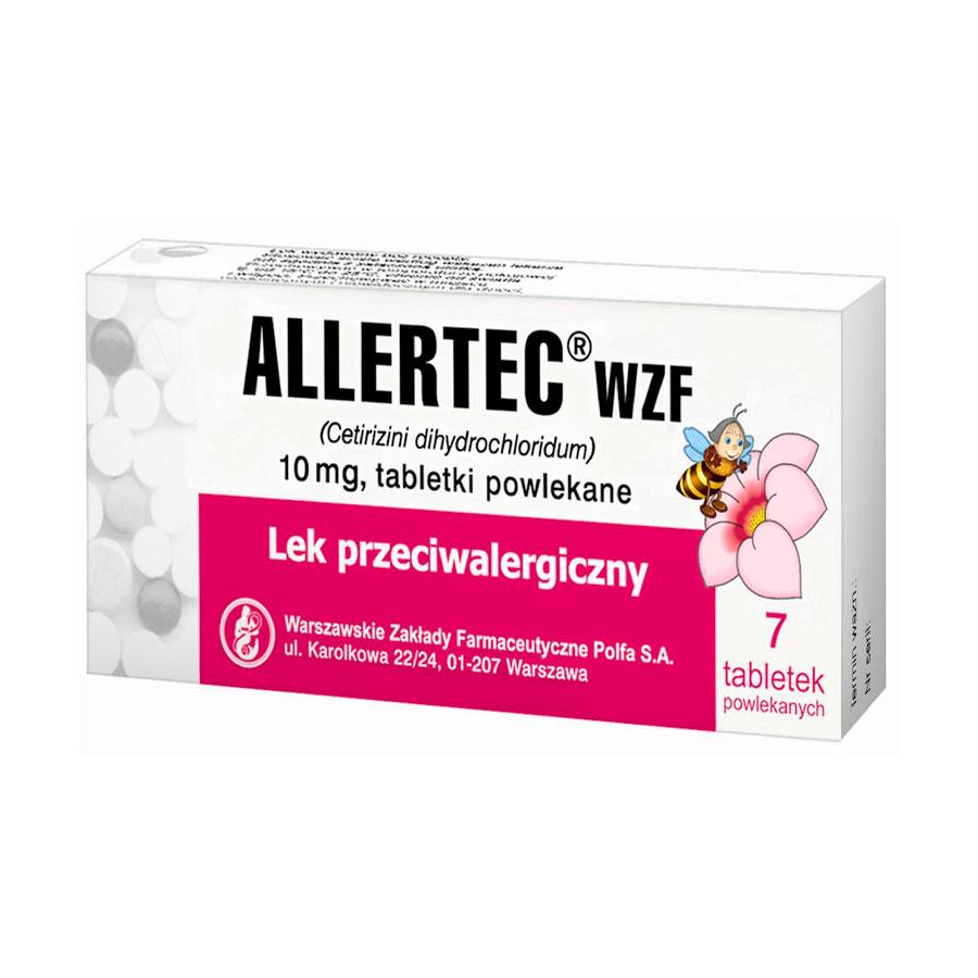 Фото препарата Аллертек таблетки покрытые оболочкой 10 мг блистер