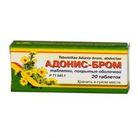 Фото препарата Адонис-бром таблетки покрытые оболочкой банка из стекла