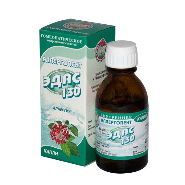 Фото препарата Аллергопент Эдас-130 капли гомеопатические флакон-капельница 25 мл