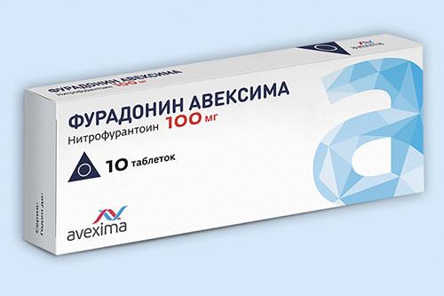 Фото препарата ФУРАДОНИН АВЕКСИМА таблетки 100 мг блистер