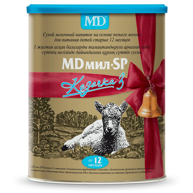 Фото препарата MD мил SP Козочка 3 сухой молочный напиток на основе козьего молока для детей старше 12 месяцев 400г