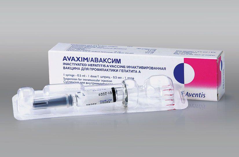 Фото препарата Аваксим суспензия для внутримышечных инъекций 0.5мг/доза 1дз шприц 0.5 мл