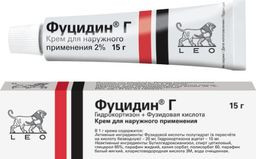 Фото препарата Фуцидин Г крем для наружного применения туба 15 г