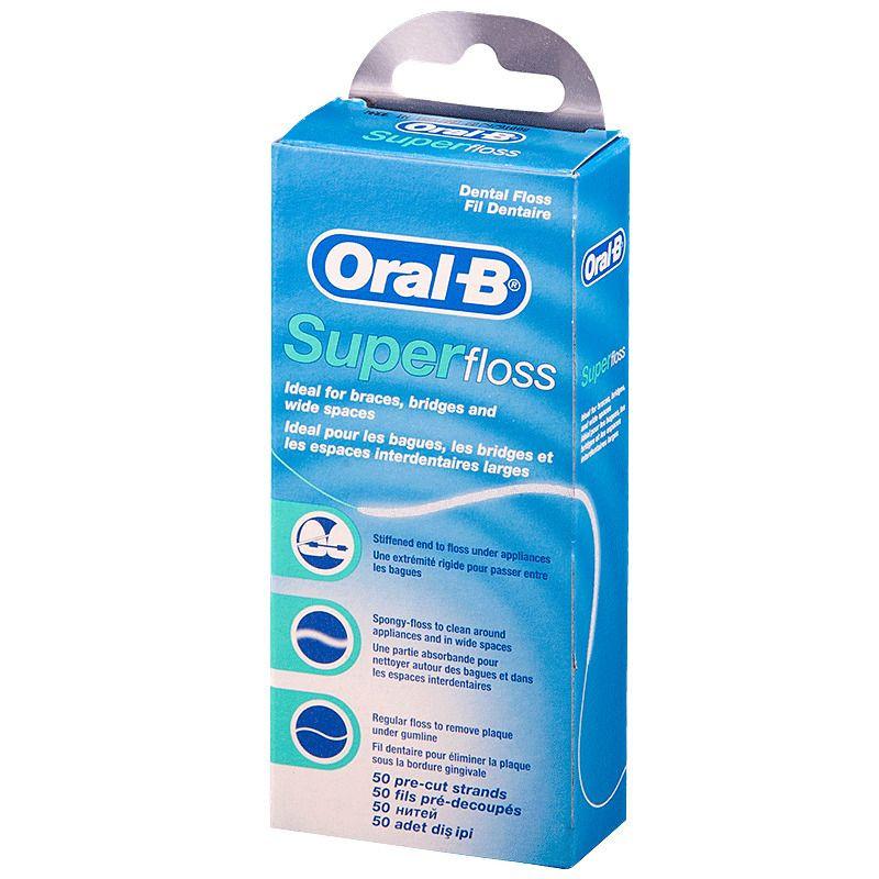 "Фото препарата Зубная нить ""Oral-B SuperFloss"" 50м"