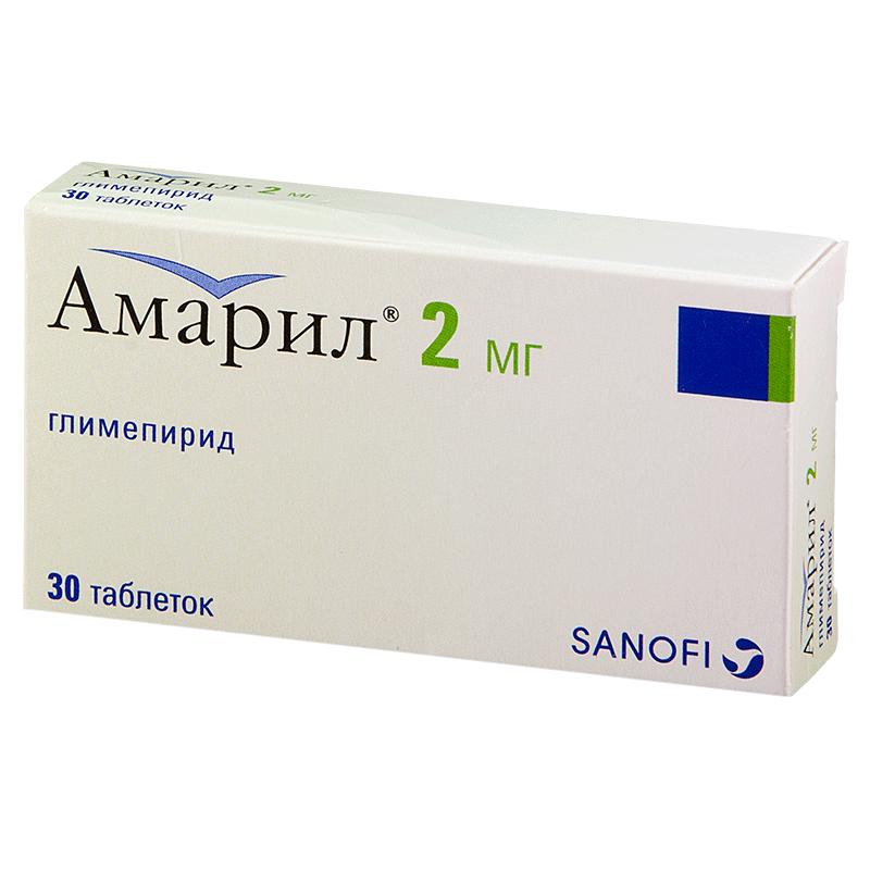 Фото препарата Амарил таблетки 2 мг блистер