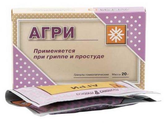 Фото препарата Агри (Антигриппин гомеопатический) гранулы 10г