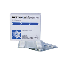 Фото препарата Акатинол Мемантин таблетки покрытые пленочной оболочкой 10 мг блистер