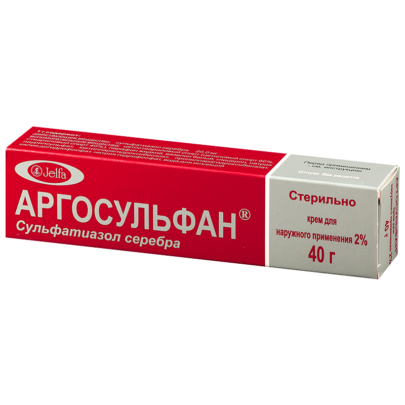 Фото препарата Аргосульфан крем для наружного применения 2% туба 40 г